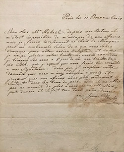 letter from Ignace Pleyel