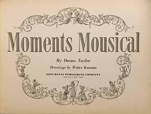 Moments Mousical by Deems Taylor