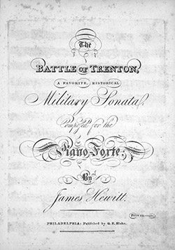 James Hewitt - The Battle of Trenton Cover