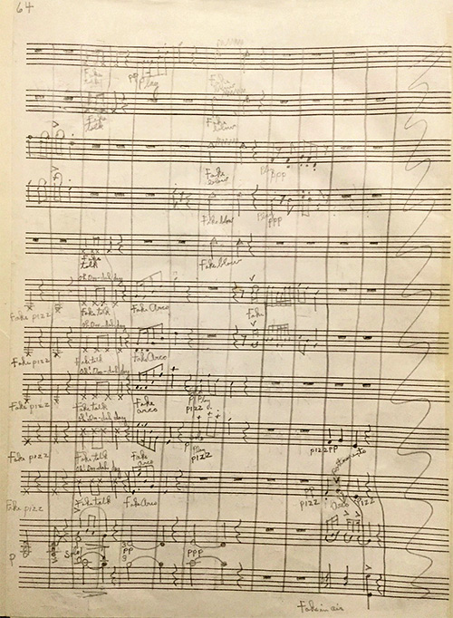 Page 64 of the Autograph Manuscript Score