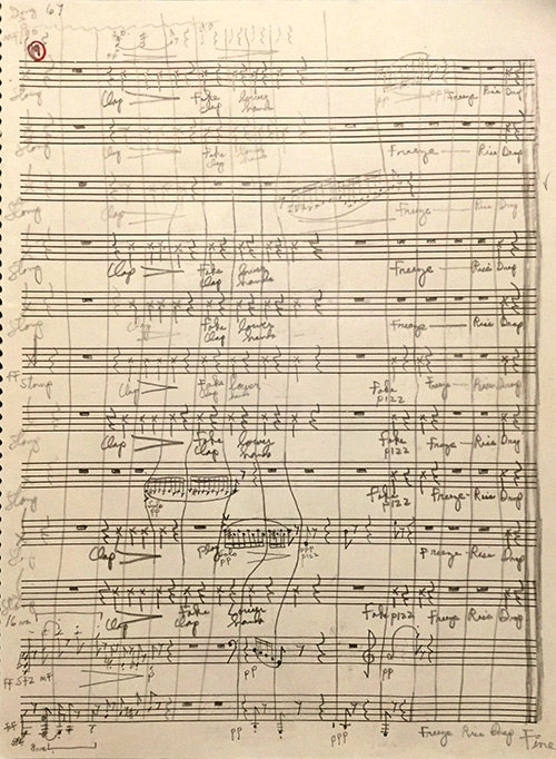Page 67 of the Autograph Manuscript Score